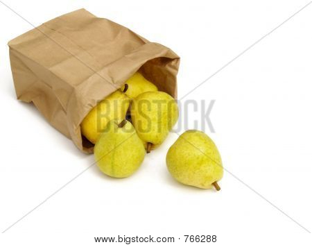 pears in a paper bag