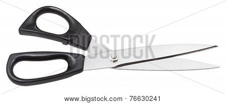 Modern Large Dressmaker Shears Isolated On White