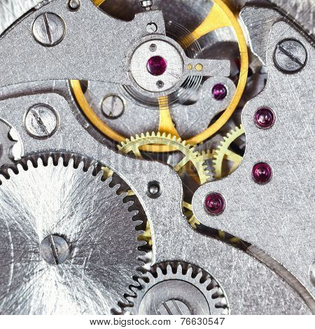 Background From Steel Mechanical Clockwork