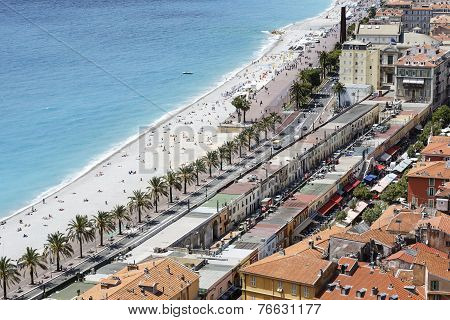Aerial View Of Les Ponchettes In Nice, France