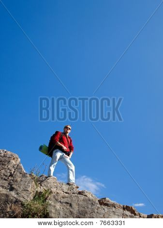 Person in mountain