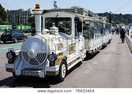 Tourist Train In Nice In France