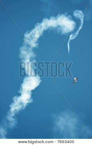 An Airplane Moving Erratically