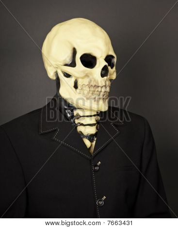 Portrait Of Death In Business Suit