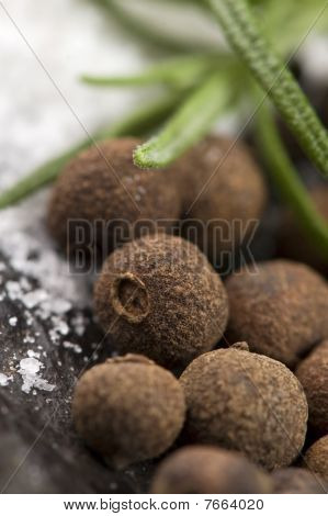 Allspice With Fresh Rosemary