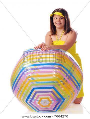 Young Beach Ball Beauty
