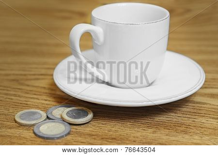 Cup Of Coffee On The Table Coin