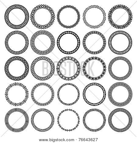 Mega set of 25 the most popular round frames