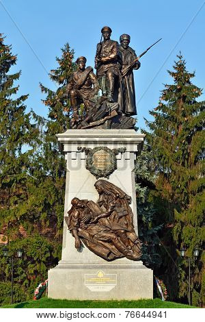 KALININGRAD, RUSSIA - November 4, 2014: Monument To The Heroes Of The First World War