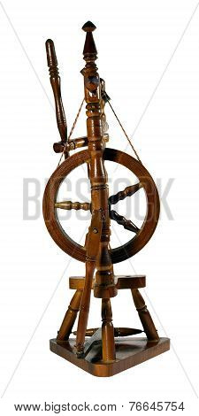 Spinning Wheel Isolated