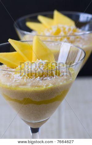 Mango Semolina  Pudding