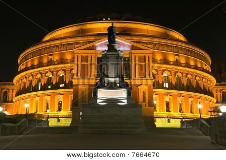 Royal Albert Hall in der Nacht