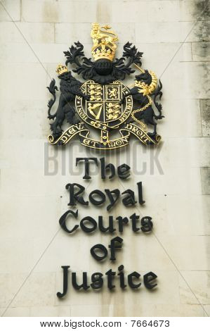 The Royal Courts of Justice sign