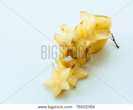 Star Fruite On White Background