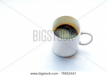 Americano Coffee On Light Background