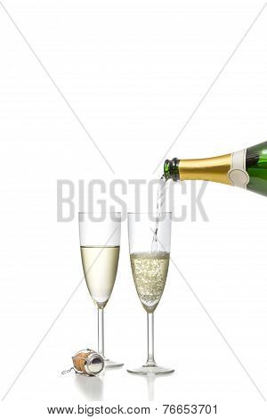 Champagne Filled In A Glass