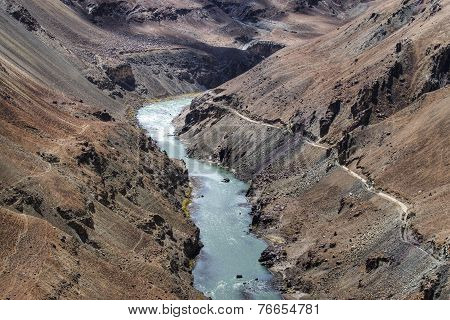 Zanskar River, Ladakh, Jammu And Kashmir, India