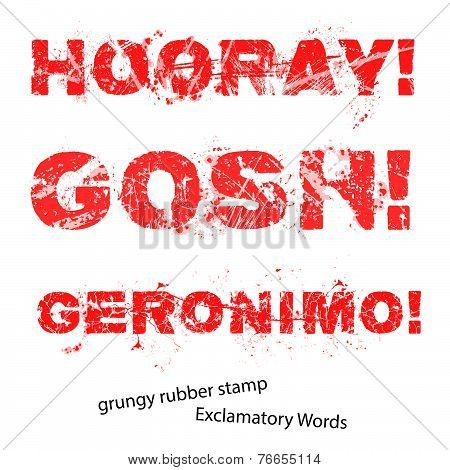 Grunge Rubber Stamp With Text Hooray Gosh Geronimo ,vector Illustration