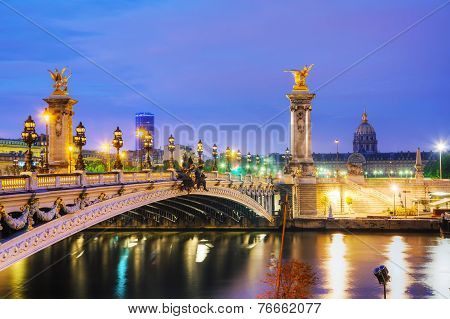 Alexander Iii Bridge In Paris