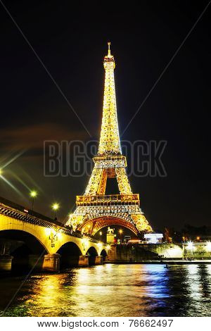 Paris Cityscape With Eiffel Tower