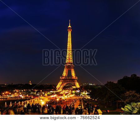 Paris Cityscape Panorama With Eiffel Tower