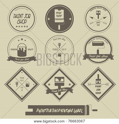Paint job shop vintage label