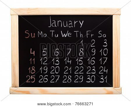 2015 year calendar. January.Week start on sunday