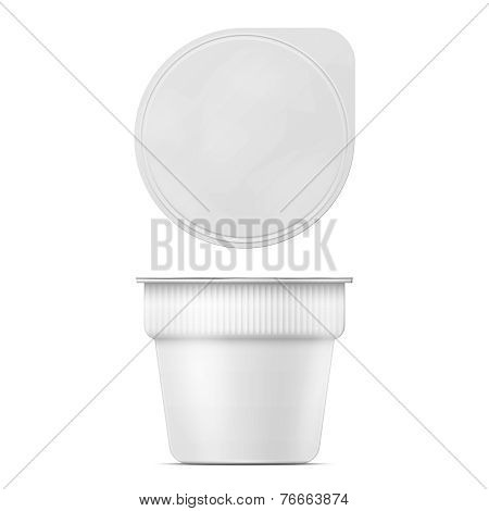 Instant mashed potato container template.