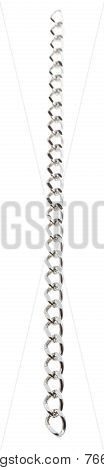 Bottom View Of Hanging Chain Isolated On White