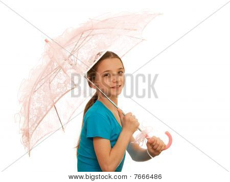 Girl With Pink Parasol