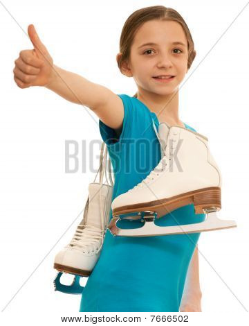 Successful Girl With Skates