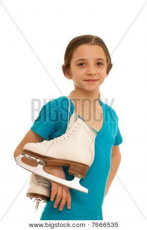 Pretty Girl With Skates