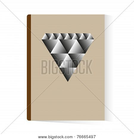 brochure book abstract diamond template