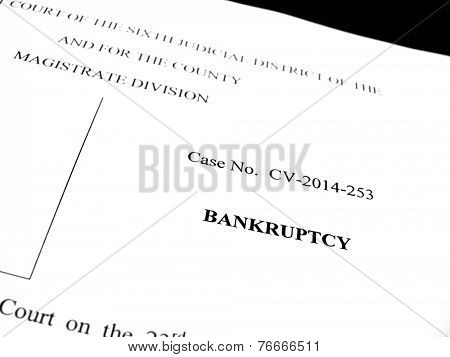 Filing Legal papers as a Lawsuit for Bankruptcy protection