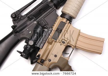Two Us Army Assault Rifles.