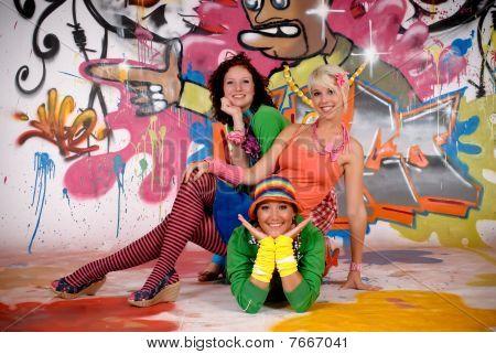 Friends Fun Graffiti Wall