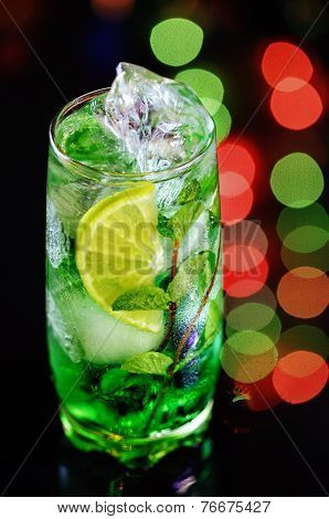 Cocktail With Mint And Lemon