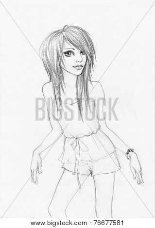Emo Girl Standing