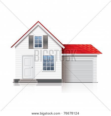 House Isolated On White Vector
