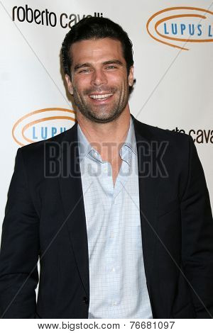 LOS ANGELES - NOV 21:  Dustin Moss at the Lupus LA Bag Ladies Luncheon at the Beverly Hilton Hotel on November 21, 2014 in Beverly Hills, CA