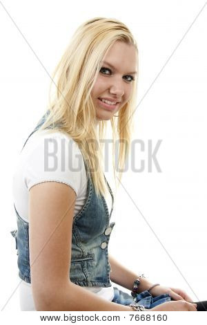 Young Blonde Woman Posing