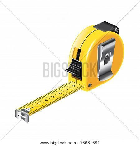Tape Measure Isolated On White Vector