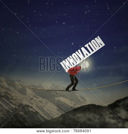 Businessman Carrying Innovation