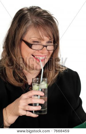 Businesswoman With Drink