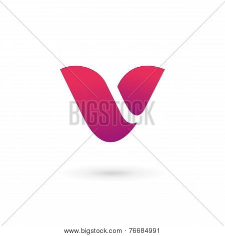 Letter V Logo Icon Design Template Elements