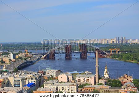 movable bridge in Kiev, Ukraine