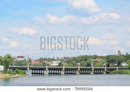 bridge near Donbass arena in Donetsk