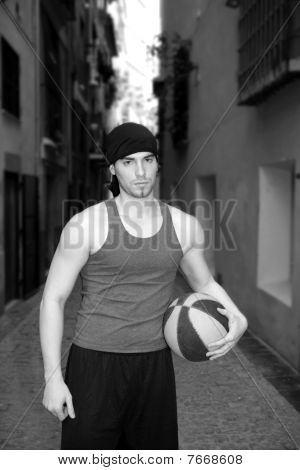 Young Basketball Basket Ball Street Player