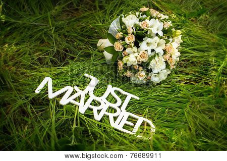 Just married flowers