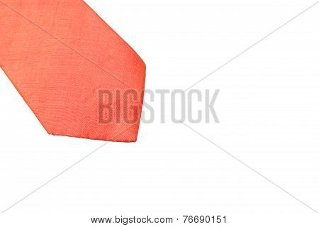 Plain Orange Business Neck Tie
